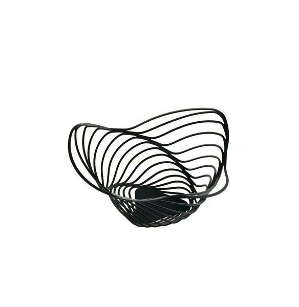 Alessi Zitrusschale 26 cm Trinity schwarz