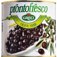 Greci Olive nere – Schwarze Oliven ohne Stein in Salzlake   – Ant…, Italien, 2.6000 kg