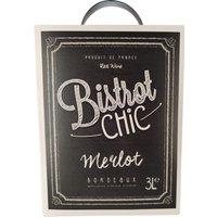 Bistrot Chic Merlot Bordeaux Aoc 3,0L Bag in Box   – Rotwein, Frankreich, trocken, 3l