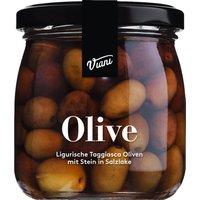 Viani Olive – Ligurische Taggiasca Oliven mit Stein in Salzlake 1…, Italien, 108g