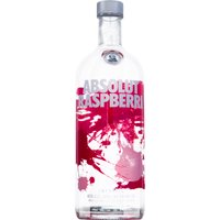 Absolut Raspberry Vodka mit Himbeere Country of Sweden    ...